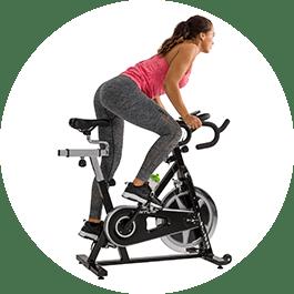 alles spieren trainen op een spinningbike