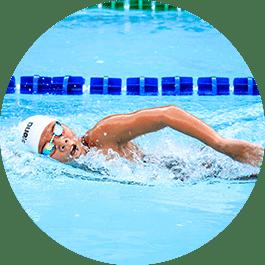 Sporthorloge voor zwemmers
