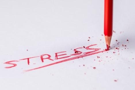 stress belemmerd afvallen