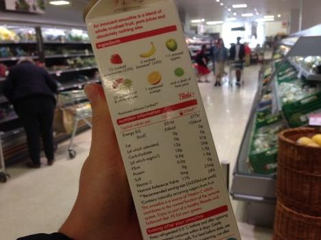 calorieen op etiket