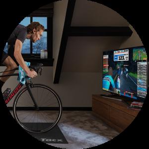 interactieve training fietstrainer of spinningfiets