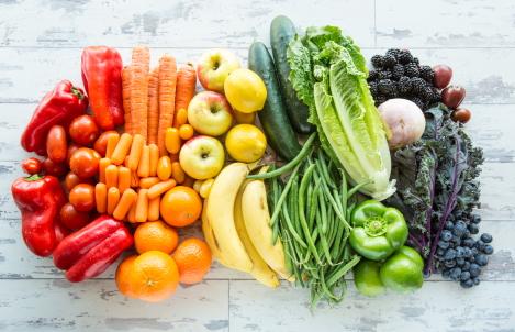 groente en fruit op brood