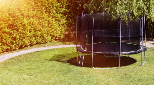 voldoende ruimte trampoline