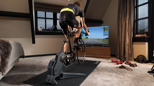 binnen trainen fietstrainer