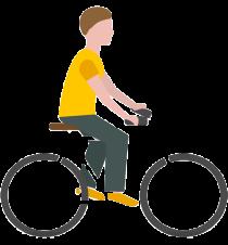 fietsen en afvallen