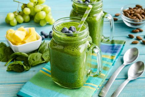 ontbijt smoothie met spinazi