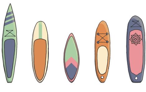 soorten paddle boards