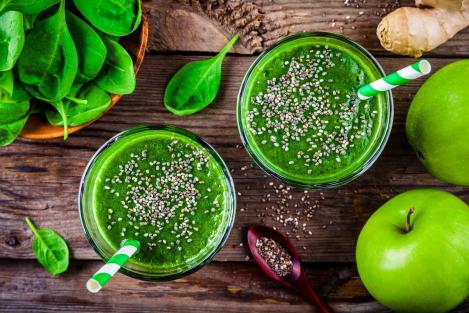 spinazie in een smoothie