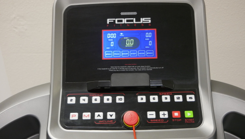 het display van de focus fitness jet 5