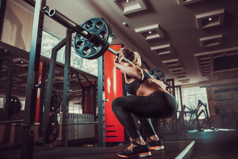 vrouw squat