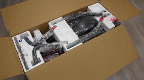 onderdelen in de doos