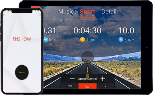 interactief trainen met fitshow app